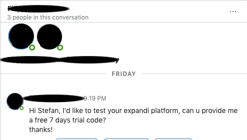 LinkedIn reply