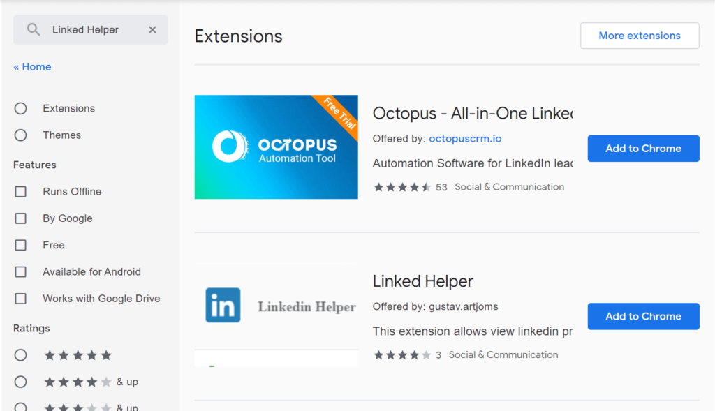 LinkedIn Extension for Chrome