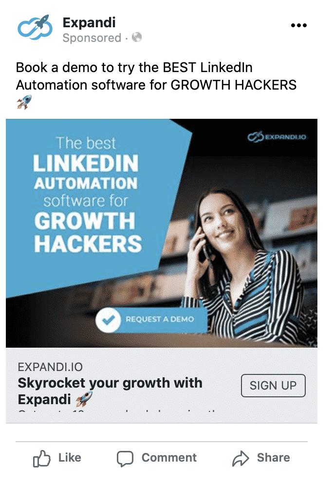 expandi facebook ad demi linkedin