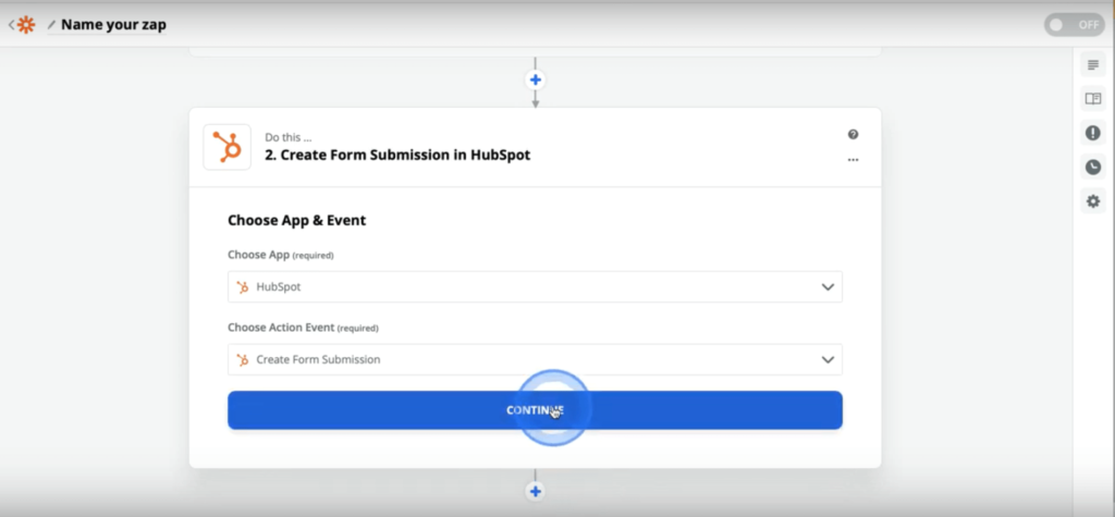 zapier hubspot create form submission