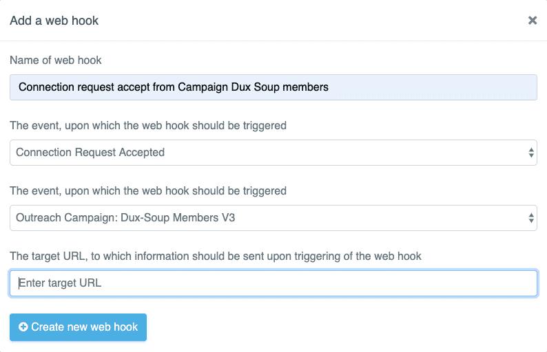 expandi create web hook name