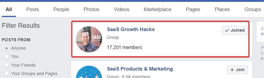 saas growth hacks facebook group