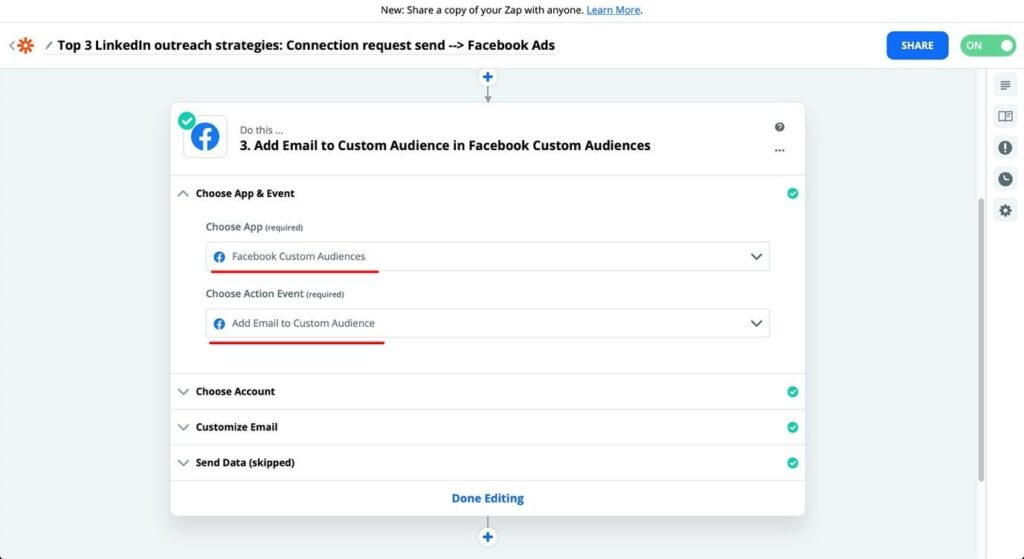 zapier facebook audience