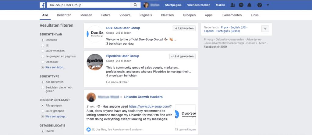 facebook dux soup user group