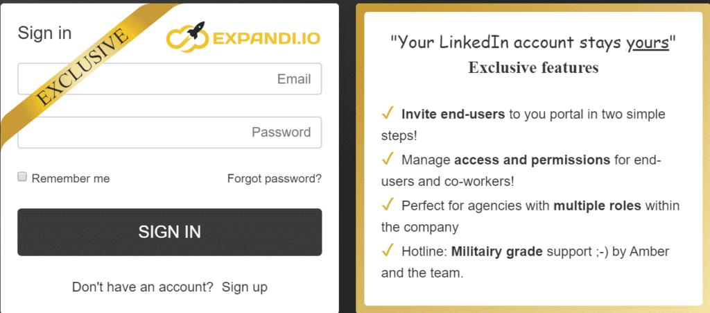 expandi whitelabel login