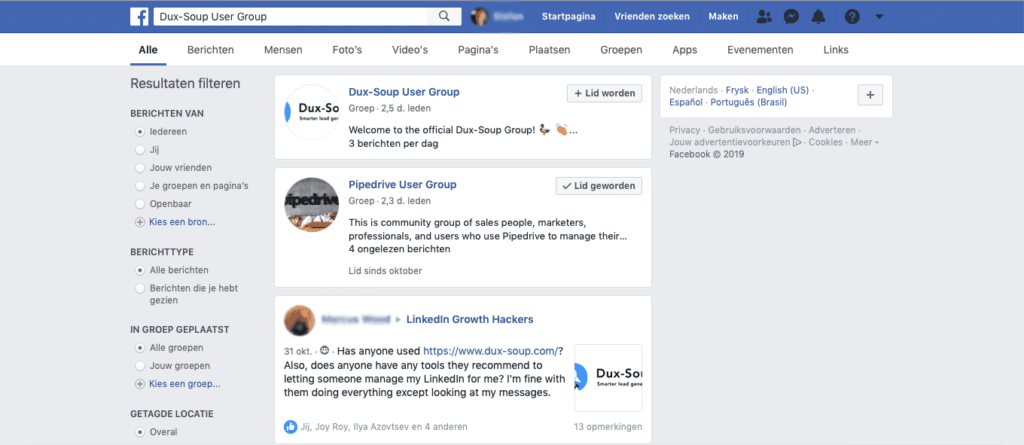 facebook dux-soup user group
